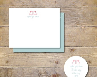 Baby Thank You Cards . Baby Shower Thank You Cards . Baby Shower Thank You Notes . Thank You Cards Baby - Tiny Booties