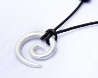 Tribal Koru in  brushed silver