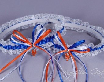 New York Mets Lace Wedding Garter Set