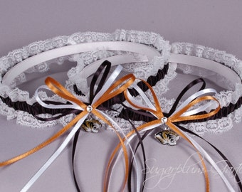 University of Missouri Tigers Lace Wedding Garter Set