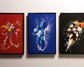 Framed Mega Man Trio of 4x6 Prints