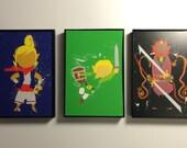 Framed Legend of Zelda - Windwaker 4x6 Print Trio