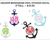 Anchor Monogram Vinyl Sticker/ Decal