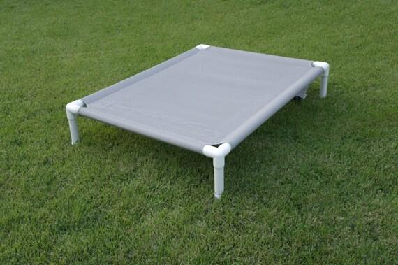Small Dog Bed Gray Mesh Dog Cot Medium Pet Bed Outside Dog