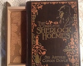The Complete Works of Sherlock Holmes - Book Jewelry Box - *Sherlock Holmes Jewelry Box* - Wooden Jewelry Box - Sherlock Holmes Wooden Box