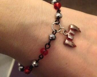 """7.5"""" I bite Vampire bracelet"""