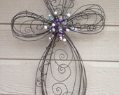 Special listing for Dawn Paulson - purple and topaz bling center small cross