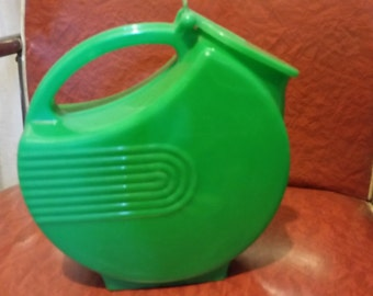 mid century green plastic pitcher