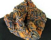 Scarf knit Denver Broncos Chicago Bears University of Illinois Syracuse orange blue crochet men women cowl wool winter hood dread i415