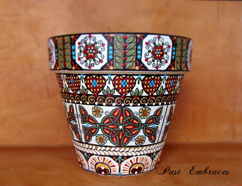 Celtic garden pysanka designs pottery 6x6 for Celtic garden designs