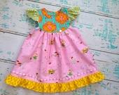 Boutique Easter Bunny Flutter Dress Custom..... 12m to sz 7