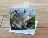 Bluebell Rabbit Greetings Card