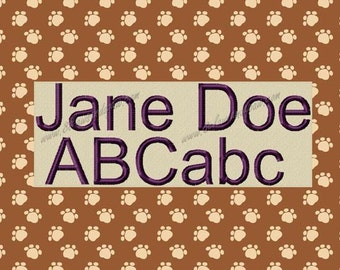 Jane Doe Machine Embroidery Font Includes 3 Sizes
