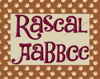 Rascal Embroidery Font