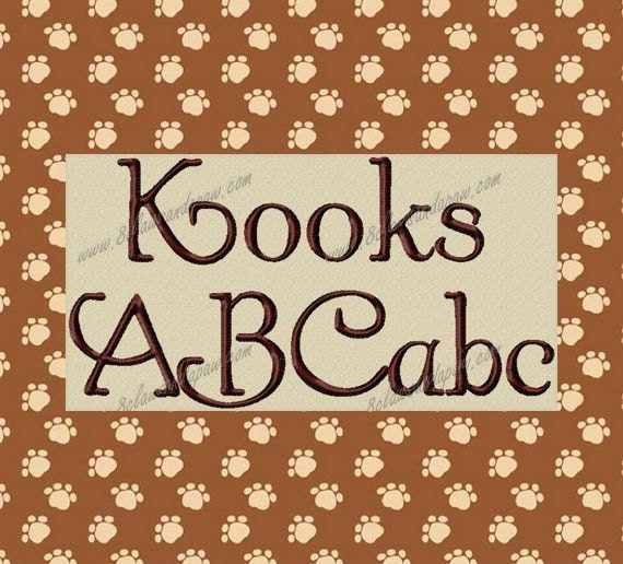 Kooks Embroidery Font Includes 3 Sizes