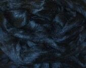 Black Dyed Tussah Silk, 1 ounce for spinning and felting