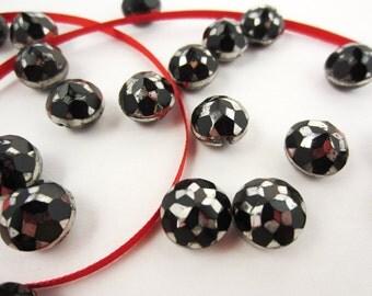 buttons antique glass ball victorian silvered set