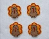 Thanksgiving Turkey Felt Applique - Set of 4