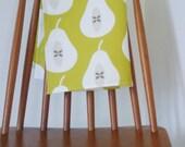 SALE Pear Tea towel in Chartreuse