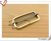 2 inch  (inner diameter) anti brass rectangle  buckles strap adjuster  for bags fingdings 10pcs per bag U24