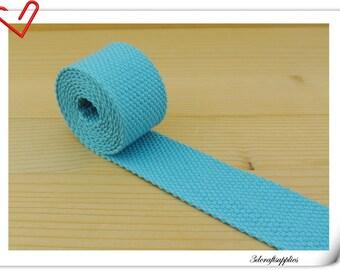 1.25 inch (1 1/4 inch , 3.cm) light weight Cotton webbing  purse strap  key fob strap bag strap Blue  5 yards ZD53