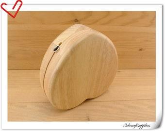 Heart wood box purse frame 15.5cm x 15.5 cm (6  inch x 6  inch ) M75