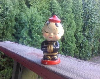 FREE SHIPPING rare bobble head vintage bobblehead asian figurine (Vault 6)