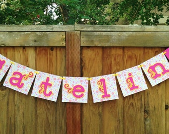 Personalized Name Banner Garland