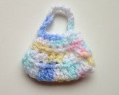 Handmade Barbie Clothes Purse Handbag Crochet Pink Blue Yellow Variegated