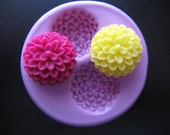 Mum Flower Cabochon Fondant Clay Mold Kawaii Silicone Mold Flexible Moulds PICTURE w/RULER for SIZE