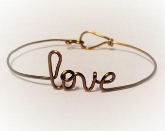 love bracelet, sister gift, back to school, name bracelet, vintage bronze