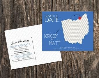 Ohio – Save the Date – Cleveland Destination Wedding – Wedding Save the Dates