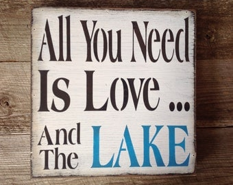 Lake sign, lake house, lake, primitive lake sign, welcome sign.