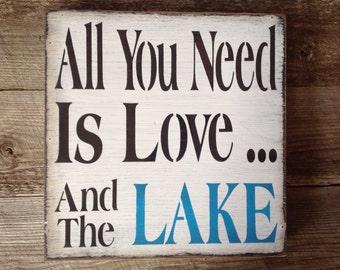 Lake sign, lake house, lake, primitive lake sign, welcome sign.
