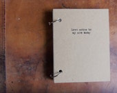 Love notes to my new baby Journal Binder/Natural Kraft Hardcover Notebook/approx 4.25 x 5.5/50 Pages/Rustic/Humor gift
