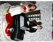 Race Car Personalized Wedding Cake Topper