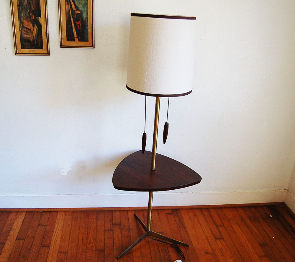 Mid century modern danish modern table floor lamp for Floor lamp with table
