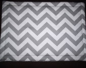 Set of 6 Reversible Chevron Placemats in Gray and Yellow