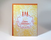 French Letterpressed Birthday Card