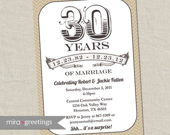 40th Anniversary Invitation Ruby Red Wedding
