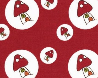 Japanese, Lecien, Natalie Lymer - Cinderberry Stitches, Woodland Toadstool Spots in Red 30407.30 - 1/2 Yard