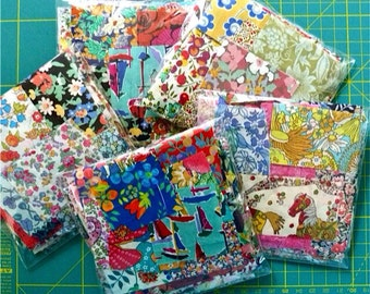 Liberty Fabric Scrap bag - NEW LARGER SIZE - Lucky dip