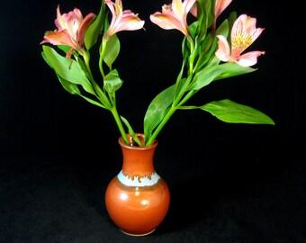 Bud Vase - Small Pottery Flower Vase - Flower Bud Vase - Brown Vase - Bottle Vase -InStock