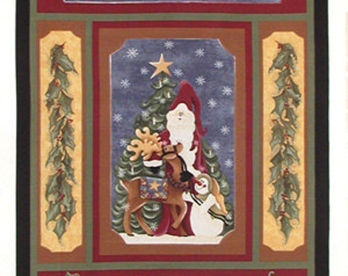 CHRISTMAS FABRIC , A Nostalgic Christmas Panel  by Pearl Krush