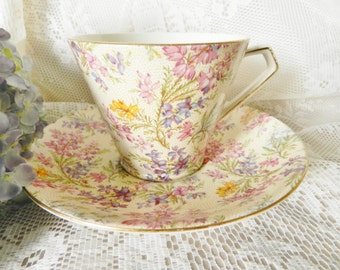 Chintz Teacup,  Lord Nelson Tea Cup, Lord Nelson Chintz Teacup,  BCM  Teacup, Teacup and Saucer no57