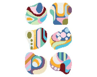 PDF/needlepoint coaster set No.02