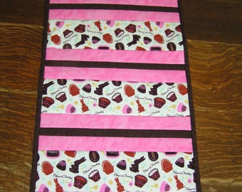 Easter Candy Table Runner Reverses to Tuscany Vineyard Print