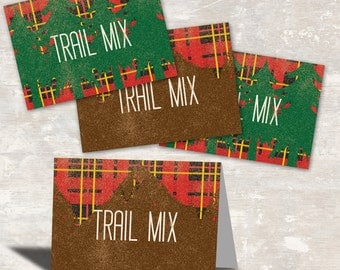 PRINT & SHIP Outdoorsman Birthday Party Favor Bag Toppers (set of 12) >> personalized and shipped to you | Paper and Cake