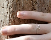 Swirling Sterling Silver ring, simple eco friendly unisex jewelry engagement band