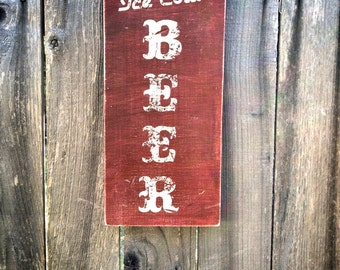 Rustic Ice Cold Beer wood Sign